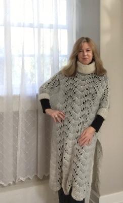 C Lasch wearing mohair lace by Grandmother Helen Rudewicz Pawlak Horan 1990.jpeg